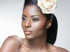 african american wedding hairstyles hairdos sleek ponyl with flower pin for