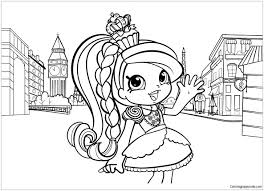 Shopkins Girl In Europe Coloring Page Free Coloring Pages Online