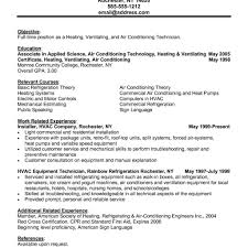 Hvac Resume Summary Of Qualifications Engineer Pdf Cover Letter