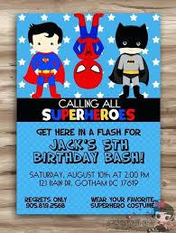 Superman Invitation Ideas Superhero Birthday Invitations Superhero