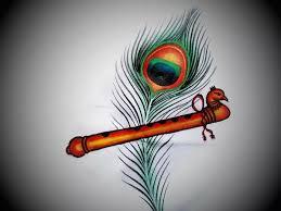 krishna flute with pea feather painting krishna flute 720x540 jpeg