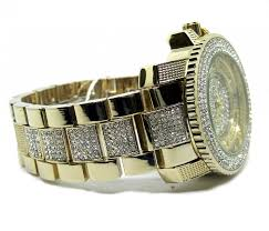 men s iced out faux diamond hiphop bling watch bracelet set men s iced out faux diamond hiphop bling watch bracelet set gold plated