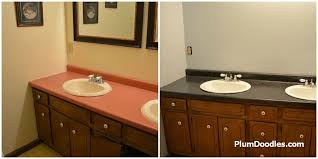countertop before after