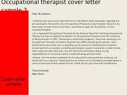 Cover Letter For Occupational Therapy School Eursto Com