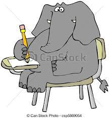 student sitting at desk drawing. Wonderful Desk Elephant Student  Csp5869054 For Sitting At Desk Drawing