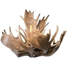 fantastic eight light moose antler chandelier for
