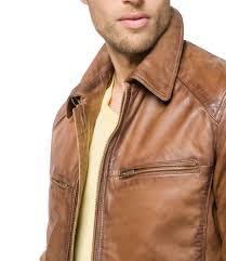 tan brown men biker leather jackets