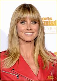 Langes Haar Frisuren Heidi Klum Long Hair With Bangs Misc