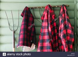 Cottage Coat Rack Lumber Jack Shirt On Cottage Coat Rack North Hatley Quebec Canada 37