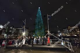 Trafalgar Square Christmas Tree Lighting Ceremony Editorial