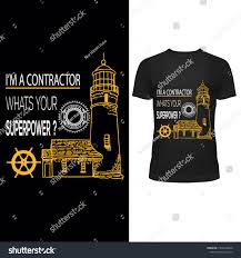 Contractor T Shirt Designs Contractor T Shirt Design Stock Image Download Now
