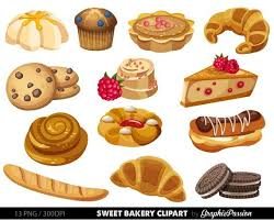 Bakery Clipart Sweet Treat Bakery Clip Art Breakfast Clipart Dessert