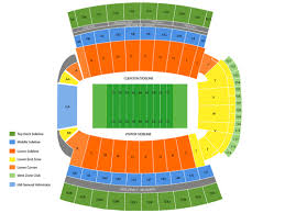 Lsu Stadium Seating Chart Visitor Section Clemson Football Stadium Seating Chart Rows