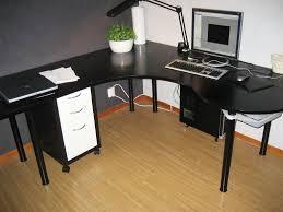 image of black corner desk hutch ikea