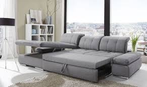 alpine sectional sleeper sofa left arm chaise facing black