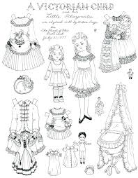 Paper Doll Coloring Pages Paper Doll Coloring Pages A Child Paper