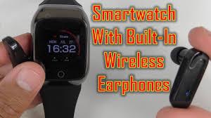 This <b>S300</b> Smartwatch Has BUILT IN WIRELESS <b>EARPHONES</b> ...