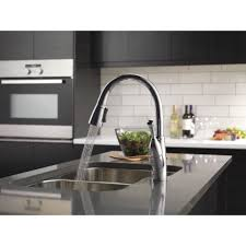 Leland Delta Kitchen Faucet Delta Allora Single Handle Deck Mounted Kitchen Faucet With Pull