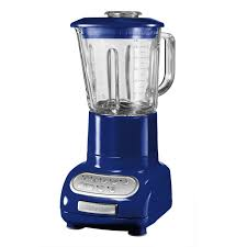 artisan blender with glass container blue