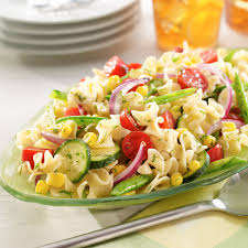fresh garden salad. Fine Fresh Fresh Garden Pasta Salad With Dill Vinaigrette Intended