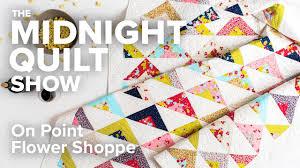 Scrappy On Point Triangle Quilt (an FMQ Love Story)   Midnight ... & Scrappy On Point Triangle Quilt (an FMQ Love Story)   Midnight Quilt Show  with Angela Walters Adamdwight.com