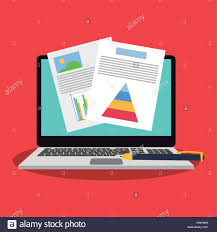 Graph Chart Finance Related Icons Image Stock Vector Art
