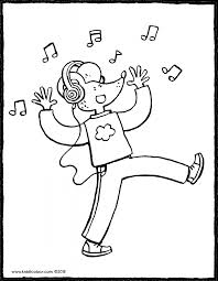 Dansen Kleurprenten Kiddicolour