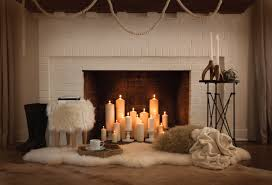 fireplace candle holders for a warm environment