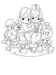 Precious Moments Indian Coloring Pages Precious Moments Indian