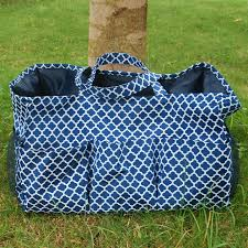 whole blanks quatrefoil polyester large garden tote utility tote bag garden tool bags in many colors