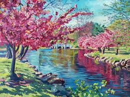 landscape painting spring soliloquy by david lloyd glover