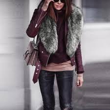 fashion 2018 womens faux fur collar scarf shawl collar wrap stole scarves leather coat on female