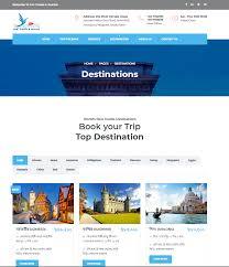 Tour Company Website Design B M Travels Tourism Agency Website Design Best Website