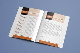 Indesign Modern Resume Resume Booklet Modern Cv 883481170087 Resume Design