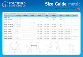 Forcefield Size Chart Forcefield Size Chart The Bike Shed