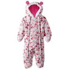Pink Platinum Baby Girls Owl Printed Micro Fleece Lined Quilted ... & Pink Platinum Baby Girls Owl Printed Micro Fleece Lined Quilted Puffer Snow  Ear Pram Suit Bunting Snowsuit Puffer Jacket - Walmart.com Adamdwight.com