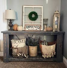 Image Rustic Farmhouse 23 Amazing Ways To Style Your Console Table With Fall Decor Noahseclecticcom Console Table Decor Ideas Noahseclecticcom