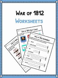 War of 1812 Facts, Information & Worksheets For Kids