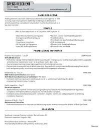 Electrical Resume Samples Samples Of Electrical Technician Resume