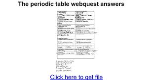 The periodic table webquest answers - Google Docs