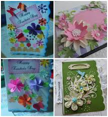 Beautiful Handmade Greeting Cards For Teachers Day