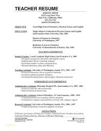 Teacher Resumes Templates With Secondary Teacher Resume Example