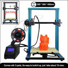 <b>3D Printer A10S</b> Dual Z Axis with 1.75mm 0.4mm Nozzle DIY Self ...