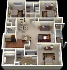 3 bedroom apartments plan. 50 Three \u201c3\u201d Bedroom Apartment/House Plans | Architecture \u0026 Design 3 Apartments Plan O