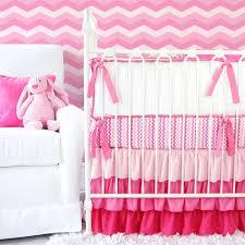pink chevron crib bedding baby sets zig zag and gray collection grey