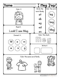 Words Worksheet Word Family Worksheets Kindergarten Pdf Eg