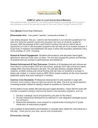 parent teacher conference letter to parents examples sample letter to local school board