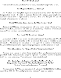 Workers Comp Settlement Chart Oklahoma Workers Compensation In Oklahoma Employee S Rights