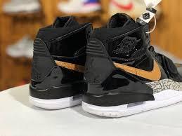 jordan legacy 312 black gold patent leather