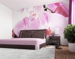 Zacht Behang Met Orchideeën Voor Muur Foto En Design